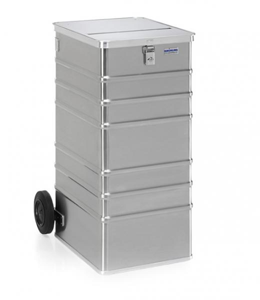 Gmöhling G-DOCU D 1009/240S Ergonomic Aluminiumbehälter (1 Schloss) für Aktenvernichter
