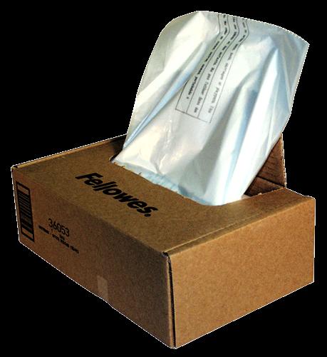 Fellowes Abfallsäcke für Aktenvernichter bis 30-35 Liter (1 VE = 100 Stk.)