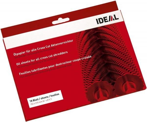 IDEAL Ölpapier 18 Blatt für Aktenvernichter