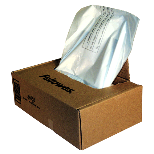 Fellowes Abfallsäcke für 425 / 485 Serie Aktenvernichter (1 VE = 50 Stk.)